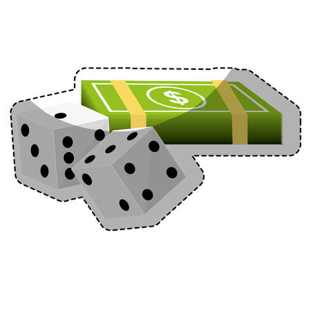 dice game casino related icon image vector illustration design