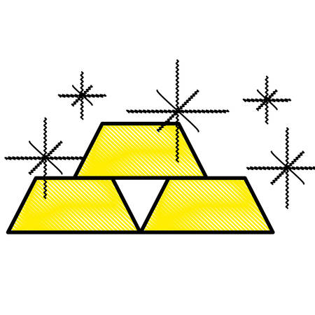 gold bars icon image vector illustration design Illustration