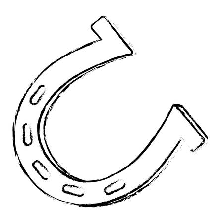 Einzelne Hufeisen-Symbol Bild Vektor-Illustration Design