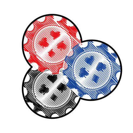 chips casino related icon image vector illustration design