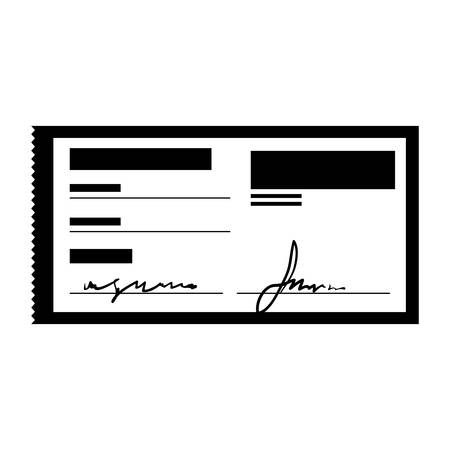 signature: check with signature payment economy icon image vector illustration design