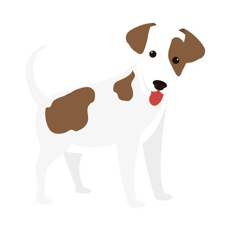 bonding: cartoon cute dog icon over white background. coloful design. vector illustration Illustration
