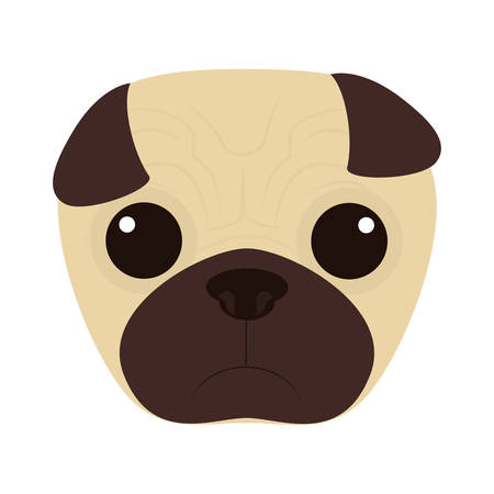 bonding: cute dog face icon over white background. colorful design. vector illustration Illustration