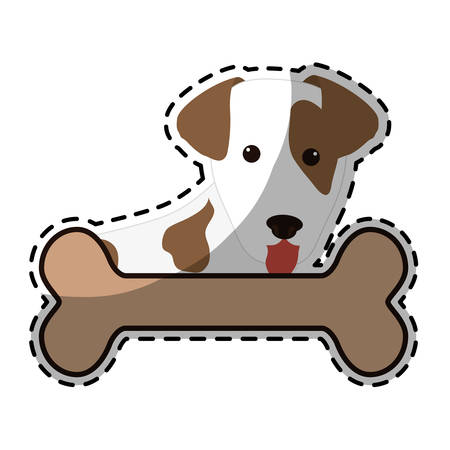 dog breed icon image vector illustration design