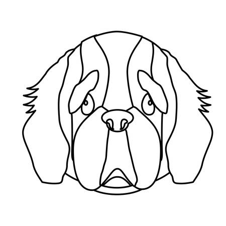 bernard: st bernard dog breed icon image vector illustration design Illustration