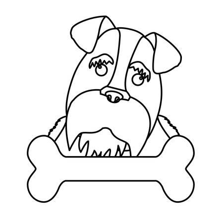 dog breed icon image simple black line vector illustration design