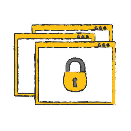 internet security related icons image vector illustration design Illustration