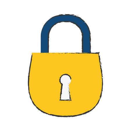 safety lock: safety lock icon image vector illustration design