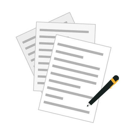 covenant: contract and pen icon image vector illustration design Illustration