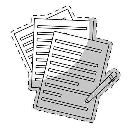 covenant: contract papers and pen icon image vector illustration design Illustration