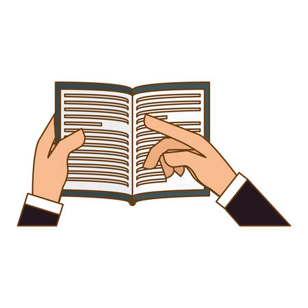 hands holding book icon image vector illustration design