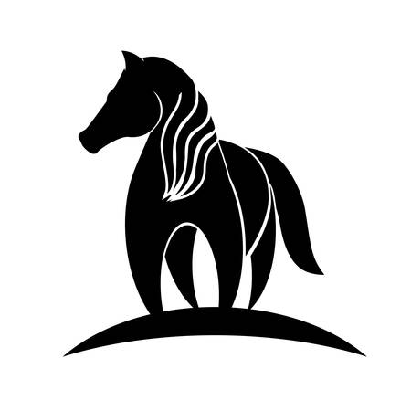 horse animal icon over white background. vector illustration