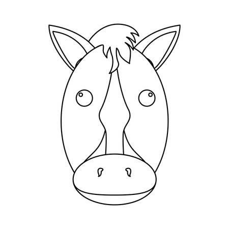 horse equine icon image vector illustration design Illustration