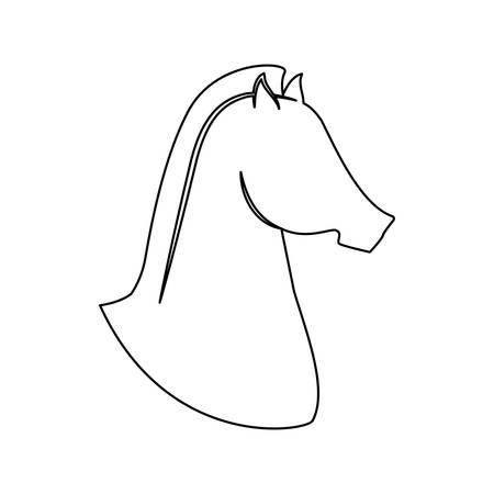 rein: horse equine icon image vector illustration design Illustration