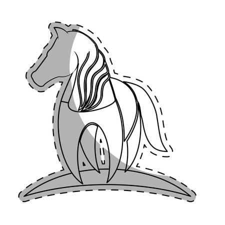 horse equine emblem image vector illustration design
