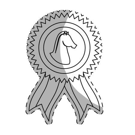 rein: prize horse equine icon image vector illustration design Illustration