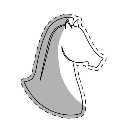 horse equine icon image vector illustration design Illustration
