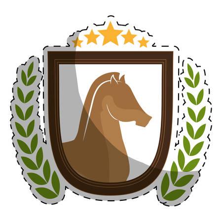 rein: horse equine emblem image vector illustration design