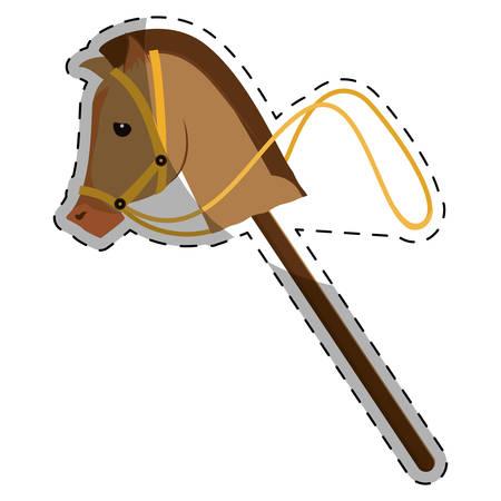toy horse equine icon image vector illustration design Illustration