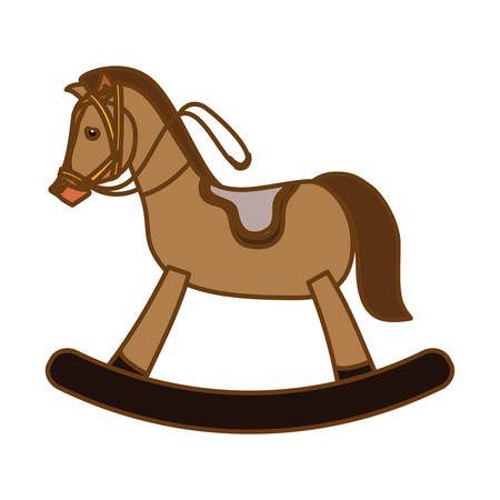 toy horse equine icon image vector illustration design Illustration