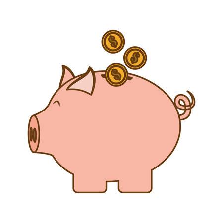 piggy bank money icon image vector illustration design