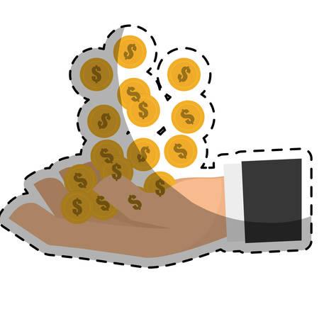 cash money related icons image sticker vector illustration design