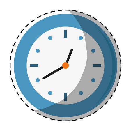 wall clock icon image sticker vector illustration design