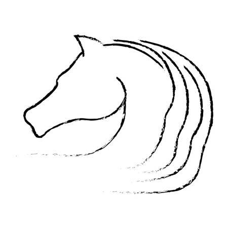 emblem of horse animal icon over white background. vector illustration