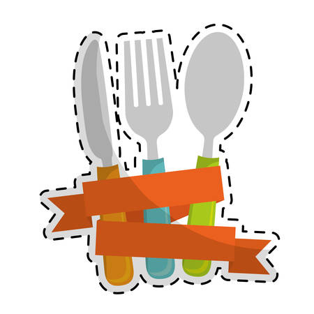 dining cutlery icon image vector illustration design