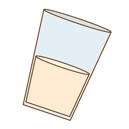 milkman: glass of milk icon image vector illustration design Illustration