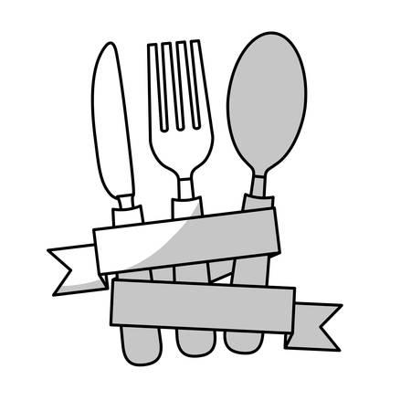 tablespoon: dining cutlery emblem image vector illustration design Illustration