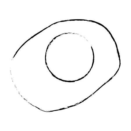 fried egg: fried egg icon over white background. vector illustration
