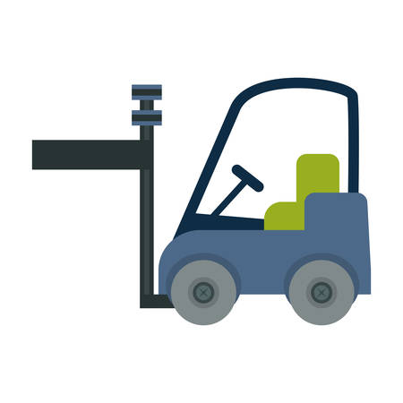 forklift truck vehicle icon over white background. colorful design. vector illustration
