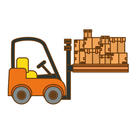 cargo shipping or handling related icons image vector illustration design Illustration