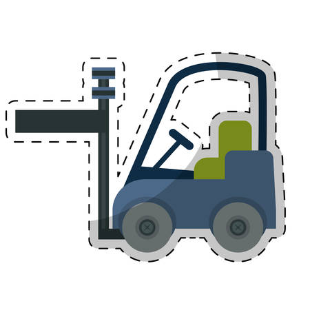wood crate: forklift cargo icon image vector illustration design
