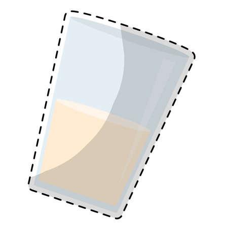 milkman: glass of milk icon image vector illustration design Stock Photo