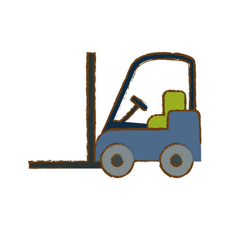 forklift cargo icon image vector illustration design
