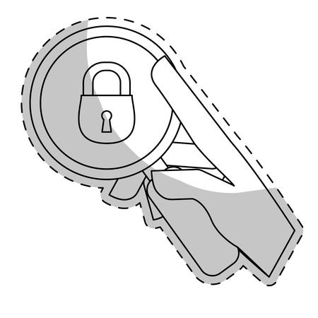 private data: security or privacy related icons image  sticker vector illustration design
