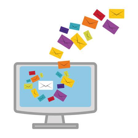 message envelope mail related icons image vector illustration design Illustration