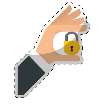 security or privacy related icons image  sticker vector illustration design