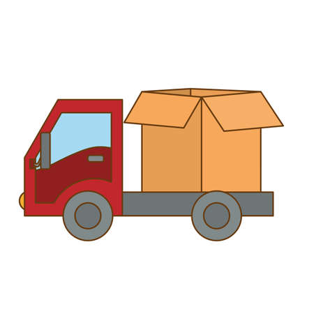 cargo shipping or handling related icons image vector illustration design Stock Photo