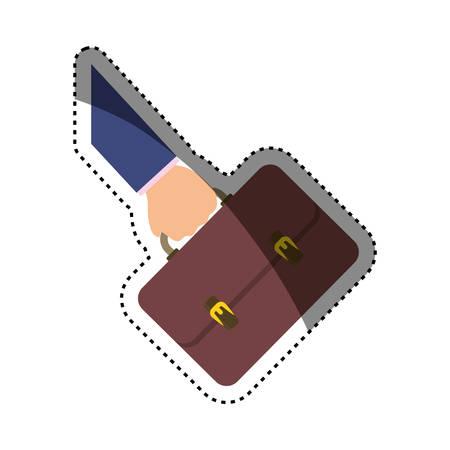 Business briefcase accesorie icon vector illustration graphic design