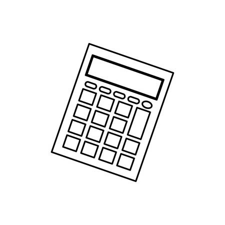 math icon: Calculator math device icon vector illustration graphic design Illustration