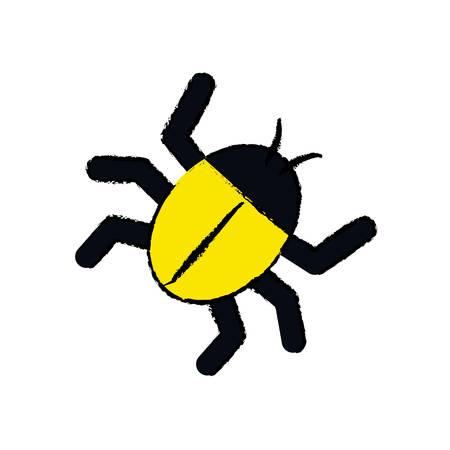 parasitic infestation: Isolated bug symbol icon vector illustration graphic design