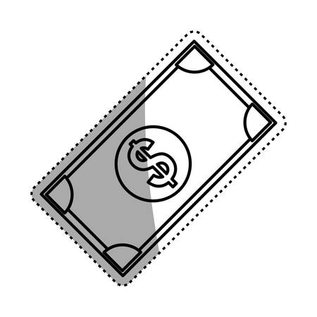 Money cash billet icon vector illustration graphic design Illustration