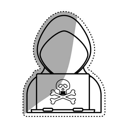 private data: Security system technology icon vector illustration graphic design Illustration