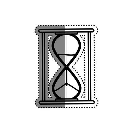 seconds: Hourglass antique clock icon vector illustration graphic design