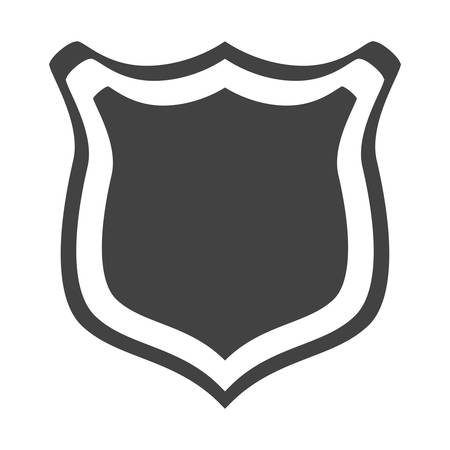 secured: shield protection web insignia security vector illustration