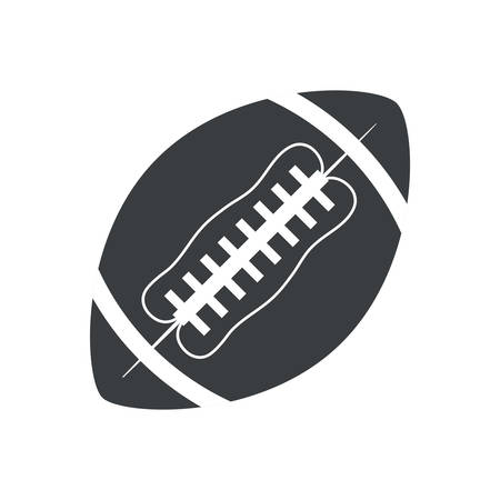 pigskin: silhouette ball american football sport vector illustration