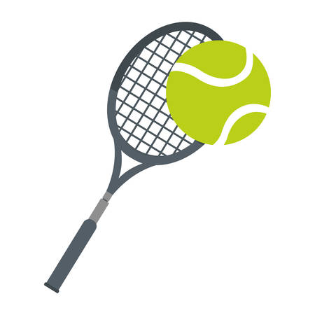 racket ball tennis equipment icon vector illustration